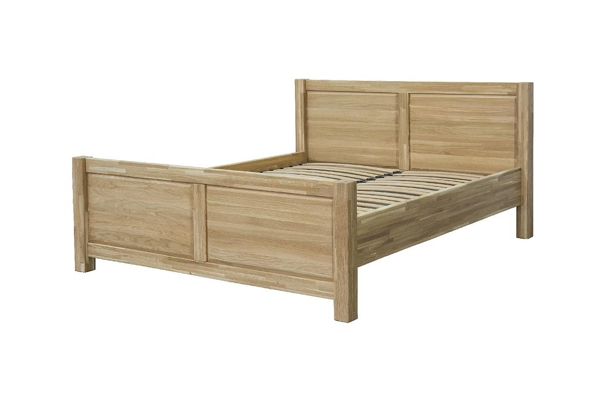 Masivní postel 180x200 DUB 08 - dub