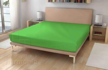 Jersey prostěradlo - zelené