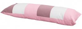 Polštář obdelník - růžová / bílá