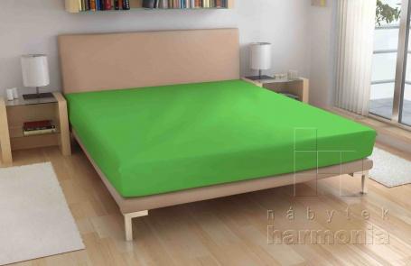 Froté prostěradlo - sytě zelené