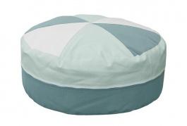 Sedací polštář - mintová / bílá