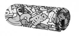 Opěrka/chránič na postel 18x50cm Komiks - černá / bílá