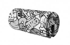 Opěrka/chránič na postel 18x36cm Komiks - černá / bílá