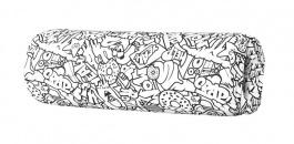 Opěrka/chránič na postel 13x50cm Komiks - černá / bílá