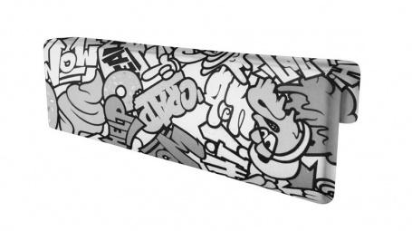 Opěrka/chránič na postel Komiks - černá / bílá