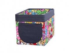 Úložný textilní box Komiks - mix barev
