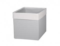 Úložný textilní box - SKANDI krémová / šedá