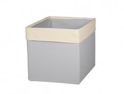 Úložný textilní box - SKANDI béžová / šedá