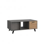 Konferenční stolek, dub artisan / smooth šedý, PARIDE ST