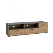 RTV stolek, dub artisan / smooth šedý, PARIDE 1D2S