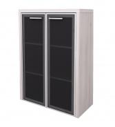 Skříňka střední Lorenc 2D  23,3cm - akát/sklo