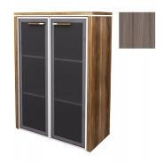 Skříňka střední Lorenc 2D 123,3cm - driftwood/sklo