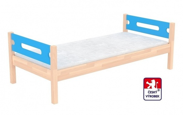 Masivní dětská postel Benjamin Bubbles 90x200cm - výběr odstínů