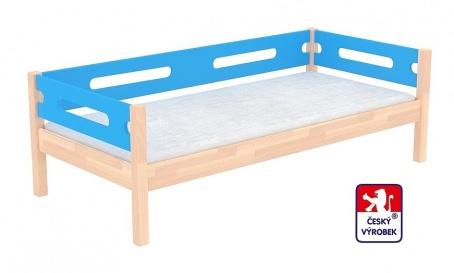 Masivní dětská postel Benjamin Bubbles 90x200cm se zábranou - výběr moření a barvy čel