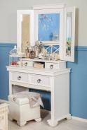 Toaletní stolek Amelie KOMPLET - dub provence bílá