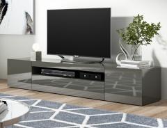 Televizní stolek FORZE 2 antracit lesk