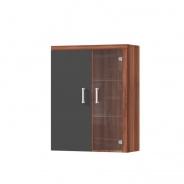 Závěsná vitrína CHERIS 4 - švestka/šedý grafit