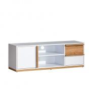 RTV stolek KNOX E4 - ořech select/bílá