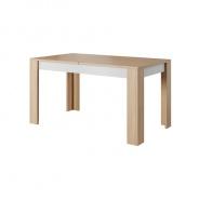 Jídelní stůl rozkládací, beton / dub jantar / bílý mat, LAGUNA
