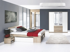Ložnice MILO II (postel 140, skříň)