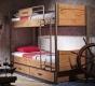 Dětská patrová postel Jack 90x200cm s úložným prostorem - dub lancelot