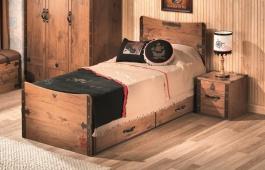 Dětská postel Jack 100x200cm se zásuvkou - dub lancelot