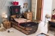 Dětská postel Jack 90x190cm ve tvaru lodi s úložným prostorem