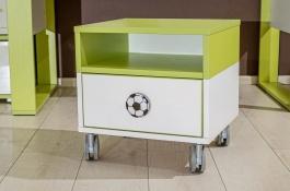 Dětský úložný kontejner Fotbal - zelená/bílá
