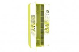Dětská šatní skříň FOTBAL - zelená/bílá