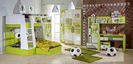 Dětský pokoj FOTBAL - zelená/bílá