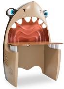 Psací stůl ve tvaru žraloka Jack - hnědá / béžová