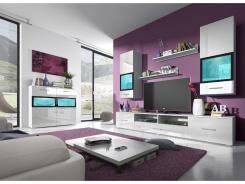 Obývací stěna SILVA 210cm - bílá