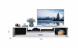 TV komoda YORK - bílá vysoký lesk