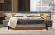 Manželská postel FIJI 160x200cm - antracit/dub san remo