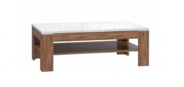 Konferenční stolek Saint Tropez - dub sangallo/bílý lesk