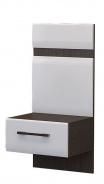 Noční stolek NENSÍ - wenge/bílý lesk
