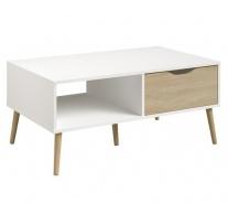 Konferenční stůl Linnea - dub sonoma / bílá
