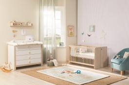 Dětský pokoj pro miminko Beatrice I - dub světlý/bílá