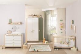 Dětský pokoj pro miminko Beatrice II - dub světlý/bílá/zelená