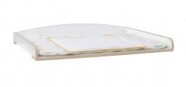 Přebalovací pult 2v1 Beatrice - dub světlý/bílá