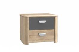 Noční stolek Yoop - Dub sonoma/Šedý antracit