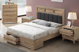 Manželská postel ALPENHOF 180x200cm - masiv dub