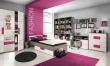 Dětská postel Lobete 90x200cm - šedá/bílá/fialová