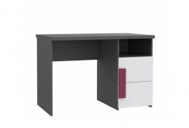 Dětský psací stůl Lobete - šedá/bílá/fialová