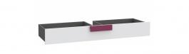 Šuplík pod postel Lobete - šedá/bílá/fialová