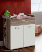 Dětská komoda s přebalovacím pultem Emily