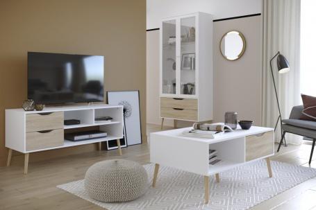Obývací pokoj Linnea II - dub sonoma / bílá