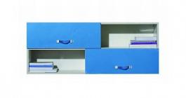 Dětská závěsná skříňka Adéla XII - jasan/modrá