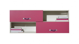 Dětská závěsná skříňka Adéla XII - jasan/růžová