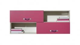Dětská závěsná skříňka Adéla XII - růžová